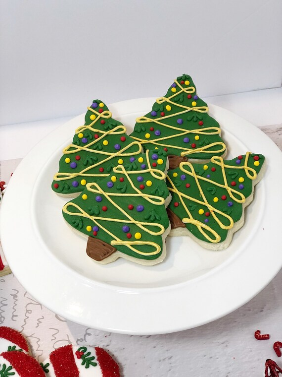 Christmas Tree Sugar Cookies 1 Dozen