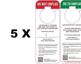 5-PACK Electric Vehicle Charging Hangers