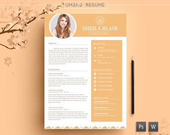 resume template free cover letter for word ai psd diy printable 3 pack the sheila professional and creative design