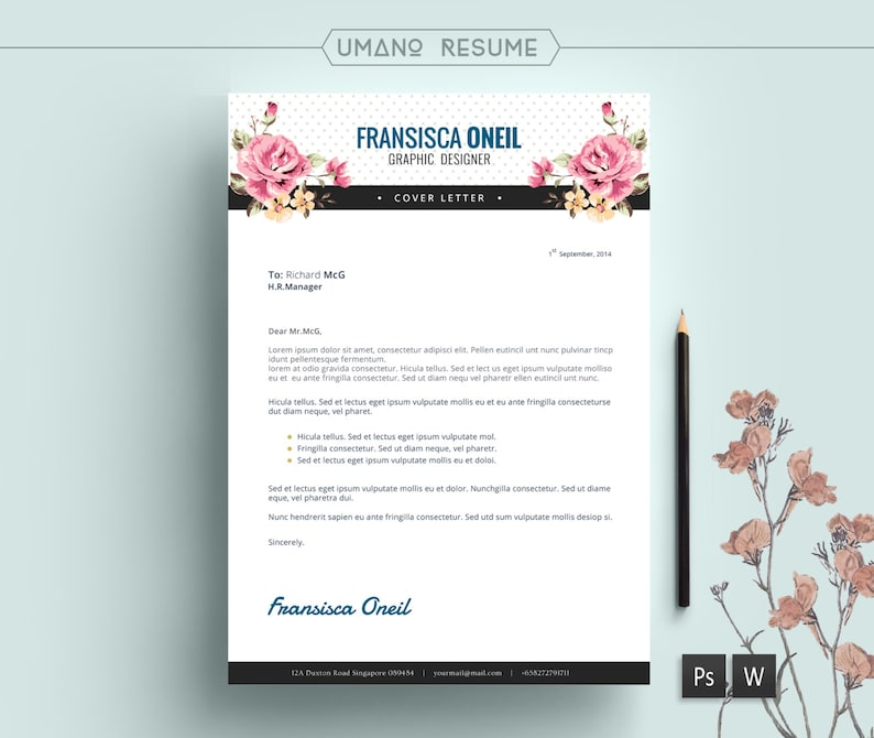 Vintage Resume Template Free Cover Letter For Word