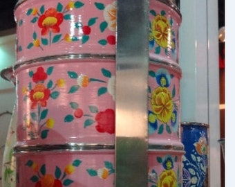 Kashmir Hand painted tiffin carrier