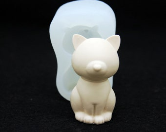 2D Bull Terrier Handmade Silicone Mold Mould for deco sugar chocolate dessert ice resin candle wax clay plaster diffuser soap