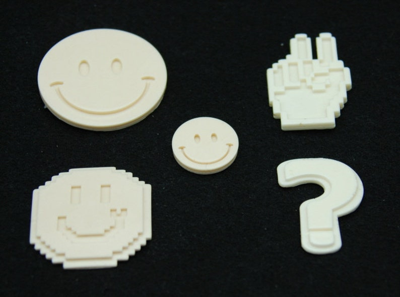 Handmade Silicone Mold Mould for deco sugar chocolate dessert ice resin candle wax clay plaster diffuser soap Smile Set