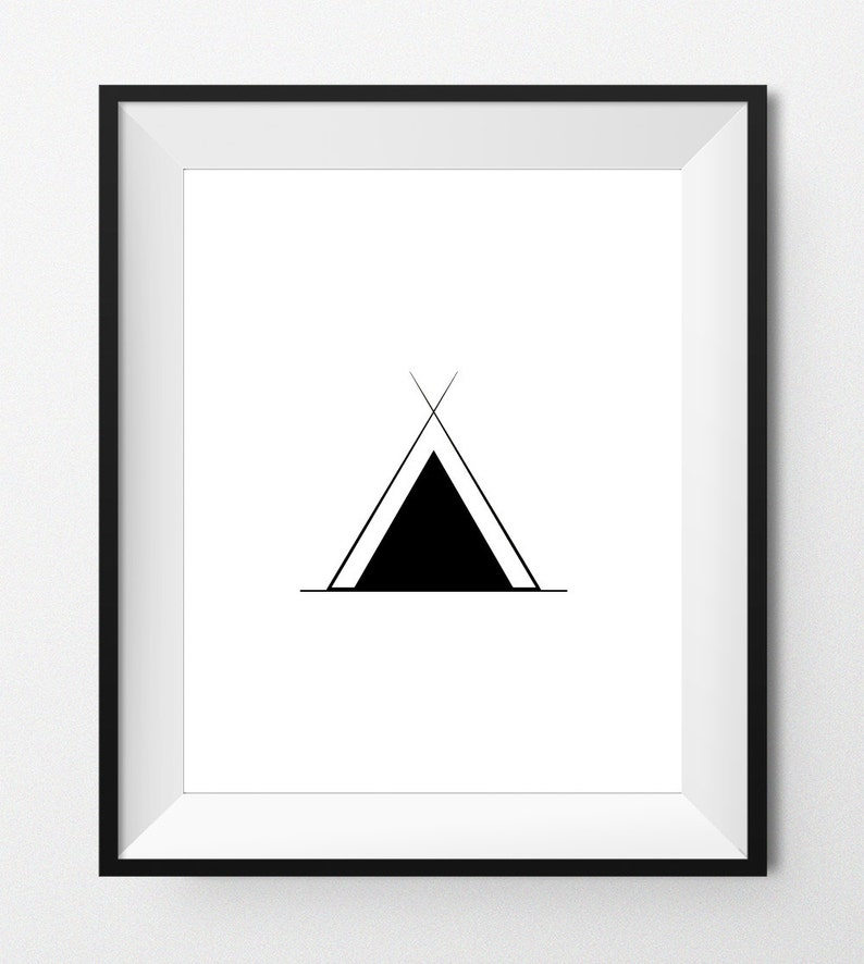 graphic regarding Native American Symbols and Meanings Printable identified as Electronic Print Artwork - Indigenous AMERICAN Logo - Tepee - Indigenous american artwork, camp logo, indian wall artwork, electronic printable - Fast Down load