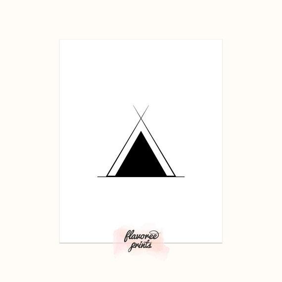 Digital Print Art Native American Symbol Tepee Native Etsy