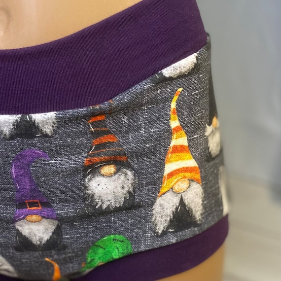 AMAB Transgender, Tuck Buddies 2.0 Adult  - short style underwear made of cotton lycra with cotton lining in the front - Halloween Gnomes
