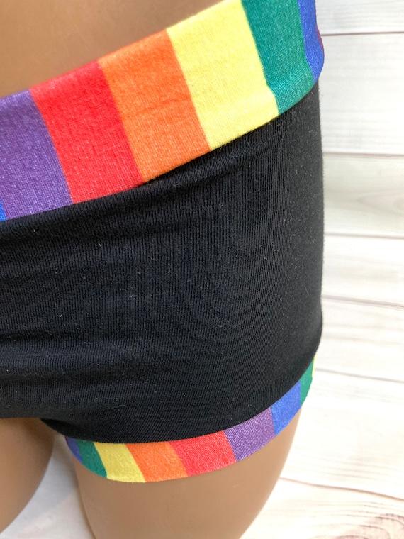 Tuck Buddies 2.0 - black w rainbow stripe - kiddo sizes