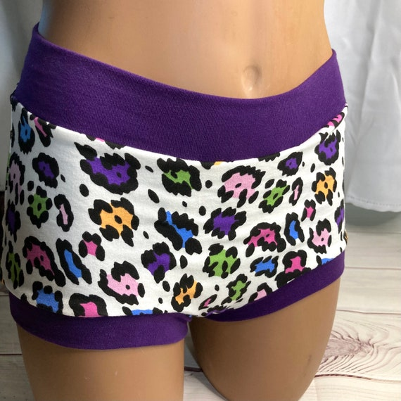 Ready to ship! Tuck Buddies 2.0 Adult - boy short style underwear made of cotton lycra with organic cotton liner - rainbow cheetah