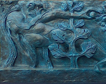 According the temptation of Eve, low relief resin