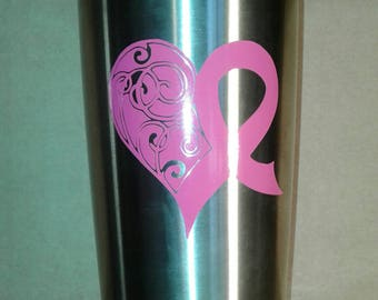 Breast Cancer Awareness Tumbler, Breast Cancer Awareness Stainless Steel Cup, Breast Cancer Awareness