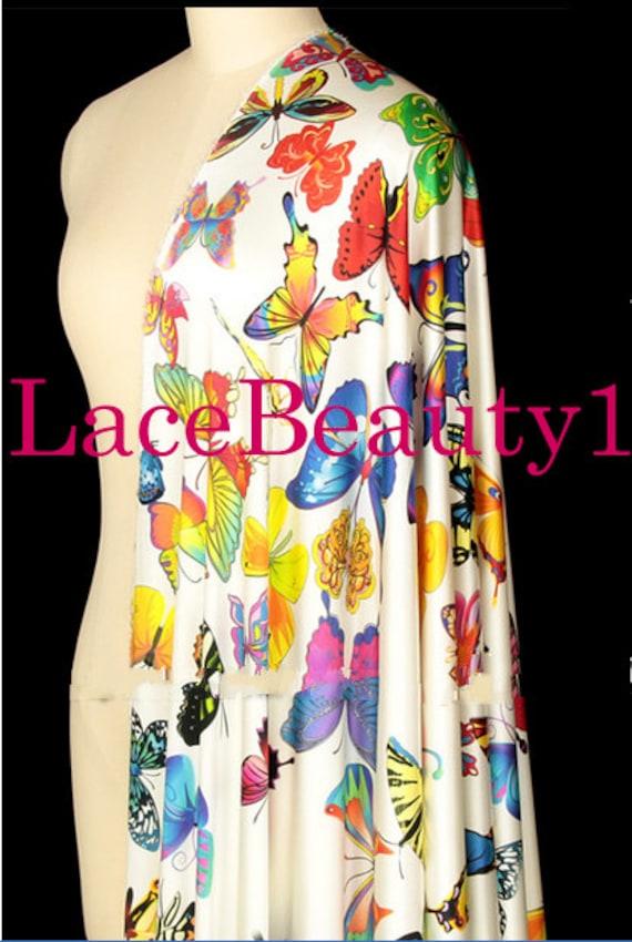 Robe de soie papillon colorée avec impression papillon soie soie Venise  vêtements de soie floral soie ... 779f9e74217