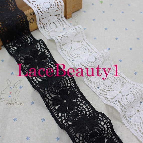Black Cotton Lace 6.7cm wide