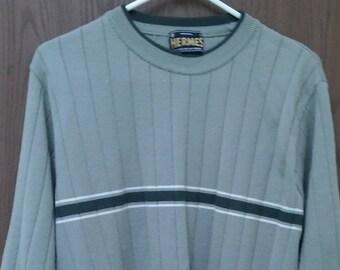 Hermes sweater women pale olive green gray, sz M