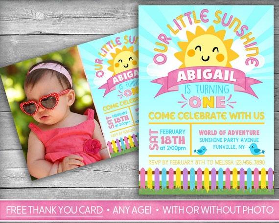 Little Sunshine Invitation You Are My Sunshine Invitation Etsy