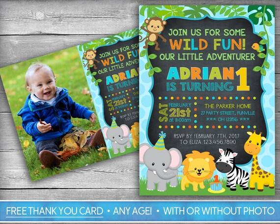 safari invitation jungle invitation zoo invitation etsy
