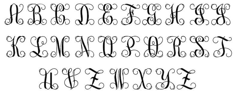 Nursery Wall Hanging Wooden Letters 30 Wooden Initials Vine Script Monogram Letters