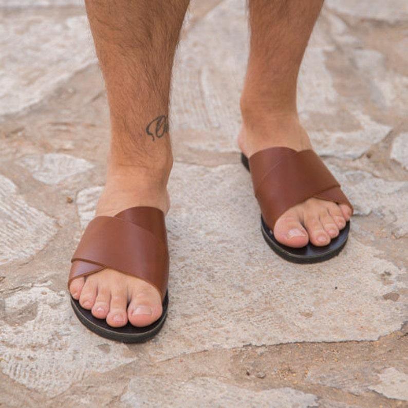 d9543c0835f5 Mens Leather Sandals Ancient Greek Mens Sandals Men Sandals