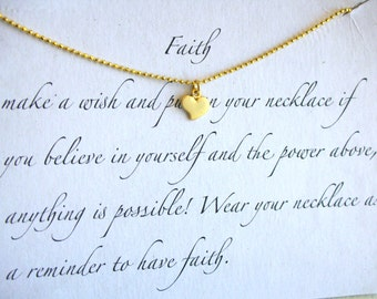 Faith simple Heart - Necklace 925 silver plated