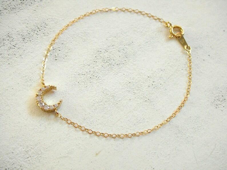 New Moon Glam bracelet 14 K