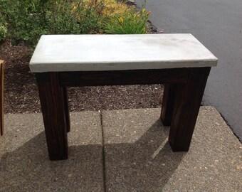 Concrete Yard Bench