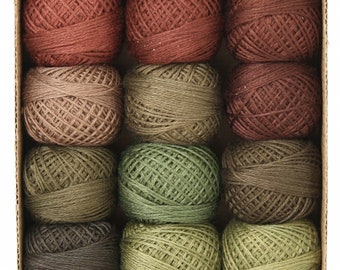 Valdani 3 Strand Floss Collection - Forest Canvas - 12 balls - 32 yards each - FREE SHIPPING