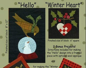 Bertie's Winter - Part 4 - All Through the Night - Wool kit with bonus kit for heart & holly