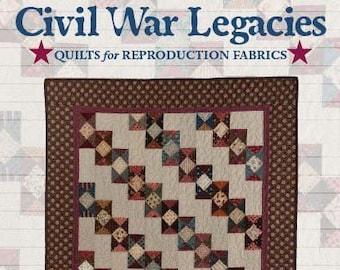 """SALE!! Civil War Legacies quilt pattern """"Dominoes"""" by Carol Hopkins"""