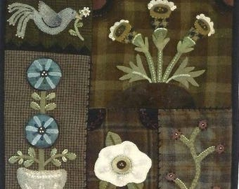 Dance with Flowers Wool Applique wall hanging pattern by Heart to Hand!!