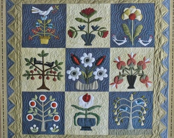 SALE!! Pick Your Flowers by Norma Whaley - Wool Applique and Cotton quilt pattern