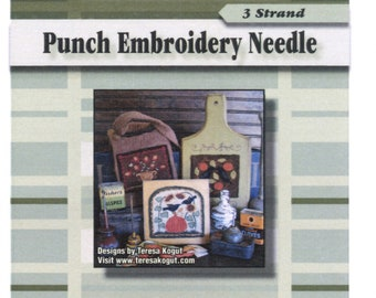 CTR #3 - Longer Green Handled Punchneedle