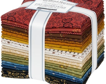 """Homestead Harvest Fat Quarter Bundle by Julie Letvin (Me and My Stitches) for Kaufman Fabrics - 24 Pieces (18""""x24"""" each) - Mini Prints"""