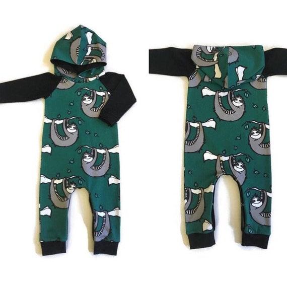 f9d54fd4e465 Organic romper Sloth romper Baby suit Organic baby clothes