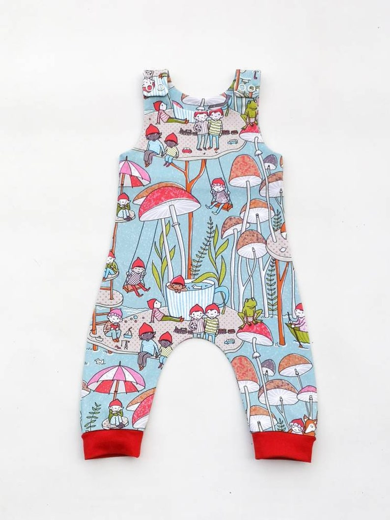 d6721df19 Baby romper Magical Woodland and toadstools Imps Organic