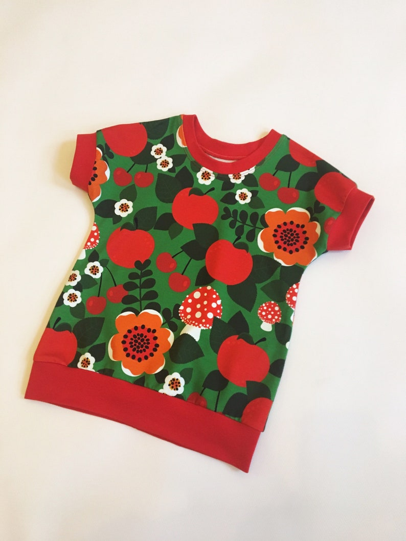 86f052064b Floral T shirt In stock Toadstool print Baby tops Trendy