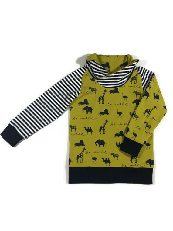 de7ddf670c Organic t-shirt Unisex kids top monochrome animal print