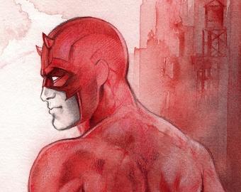 Daredevil // Print on matte paper // Print on mat paper // Marvel