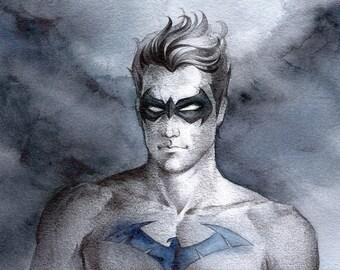 Nightwing//print on matte paper//print on mat paper//Gotham//Christmas gift