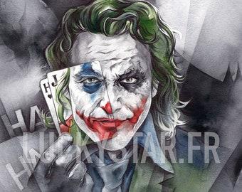 The Joker // Print on matte paper // Print on mat paper