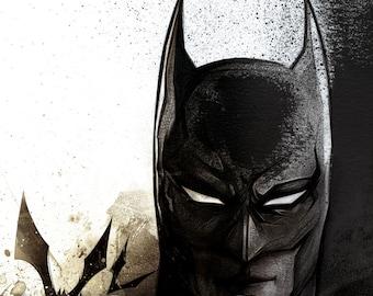 Batman / / / / printing on matte paper or aluminum / / Print on matte paper or on aluminum / / Christmas gift / / Gotham / / Dark Knight