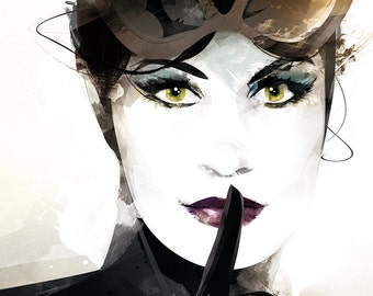 Catwoman / Digital Illustration / original gift / birthday / Art / painting / decor / poster / creative gift / poster