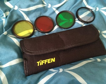 Tiffen 55mm Camera Lenses and Case (Set of 4)