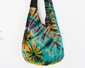 249e2953f4 Tie dye hand dyed shibori boho shoulder bag crossbody sling bag cotton bag  Tote Handbag hippie bag yoga bag travel bag summer beach bag gift