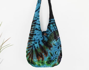 ea1d550aff Tie dye bag boho shoulder bag crossbody sling bag messenger bag cotton bag  tote hippie yoga bag travel beach bag summer bag gift for her