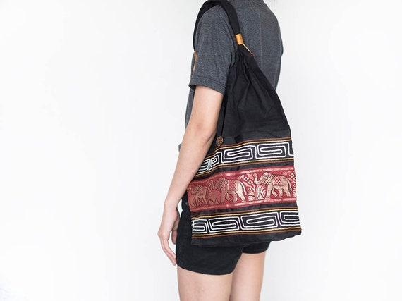 Fair Trade Elephant Bag Casual Festival Hippie Bohemian Shoulder Bag Hobo Bag
