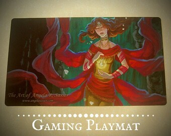 Fantasy Art Playmat Persephone Underworld Goddess CCG Collectible Gaming Mat