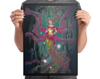 ART PRINT Persephone Queen of the Underworld Spring Greek Roman Goddess Fantasy Art - Choose Your Size