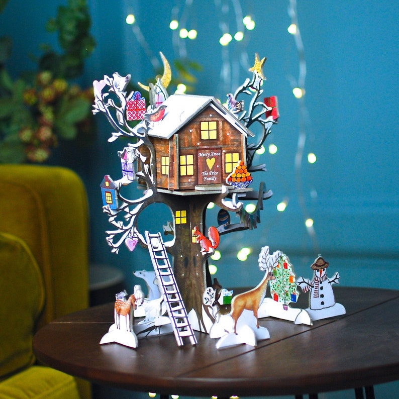 Personalised Tree House Advent CalendarChristmas Countdown image 0