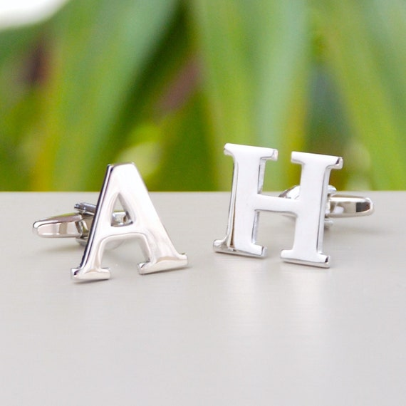 Grooms Gift All letters avaliable customizable jewelry Initial Letter Cufflinks Customized letters Personalized Initial Cuff Links