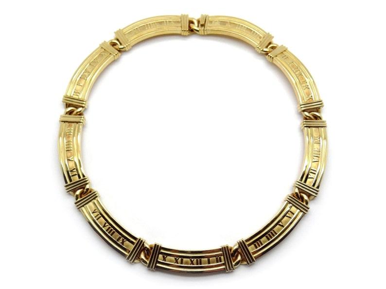 543e0a691 Tiffany & Co Atlas Collection 18k Yellow Gold Roman Necklace | Etsy