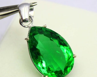 51.00Ct Certified Green Moldavite High Class Pendant 925 Solid Sterling Silver AQ450